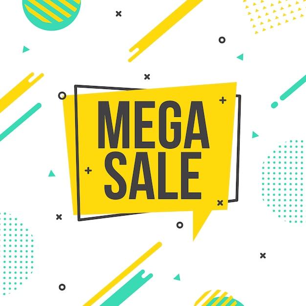 Modello di sfondo mega vendita / sconto vettoriale Vettore Premium