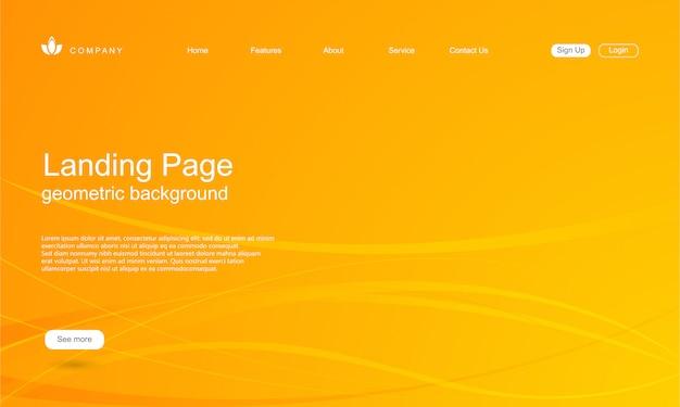 Modello di sito web con sfondo di forma geometrica Vettore Premium