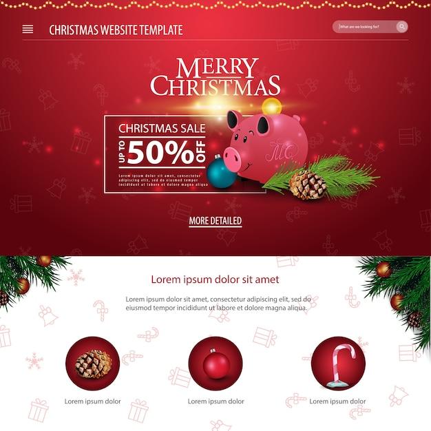 Siti Di Natale.Modello Di Sito Web Di Natale Con Salvadanaio Di Natale