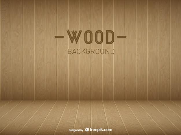 Modello di stanza in legno Vettore gratuito