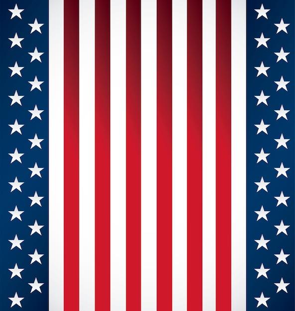 Modello di stato unito della bandiera americana s Vettore Premium
