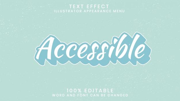 Modello di stile effetto testo modificabile Vettore Premium