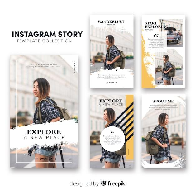 Modello di storie di instagram Vettore gratuito