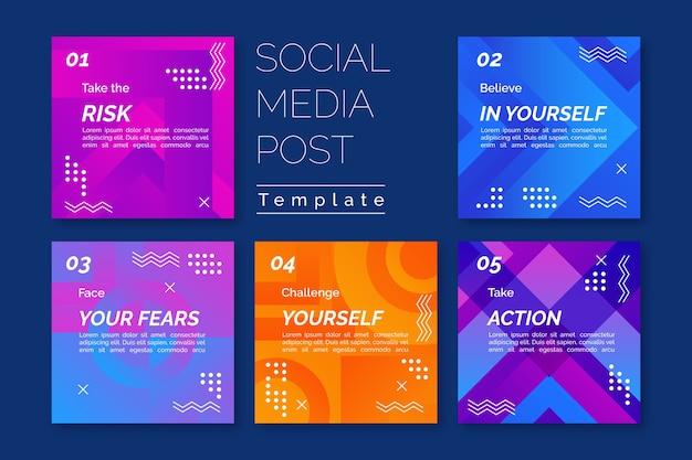 Modello di storie sui social media per suggerimenti Vettore gratuito