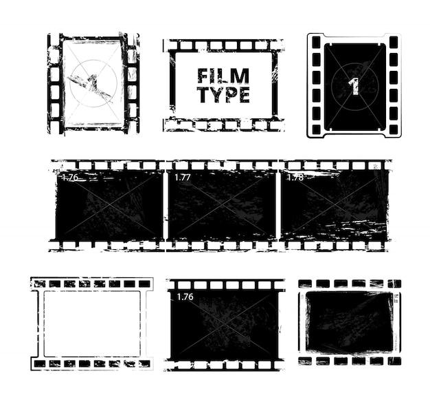 Modello di striscia di pellicola. Vettore Premium