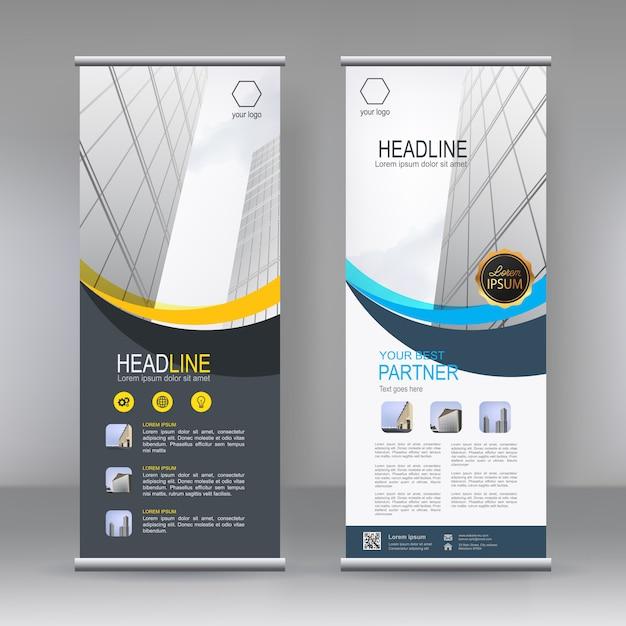 Modello di supporto banner verticale Vettore Premium
