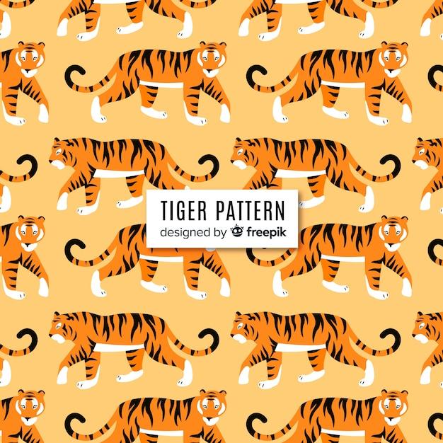 Modello di tigre ambulante Vettore gratuito