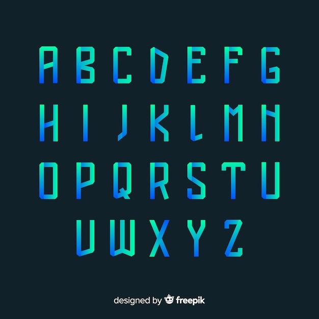 Modello di tipografia gradiente Vettore gratuito