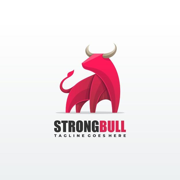 Modello di toro illustrazione vettoriale Vettore Premium