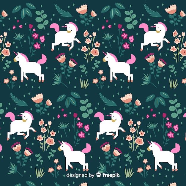 Modello di unicorno carino design piatto Vettore gratuito