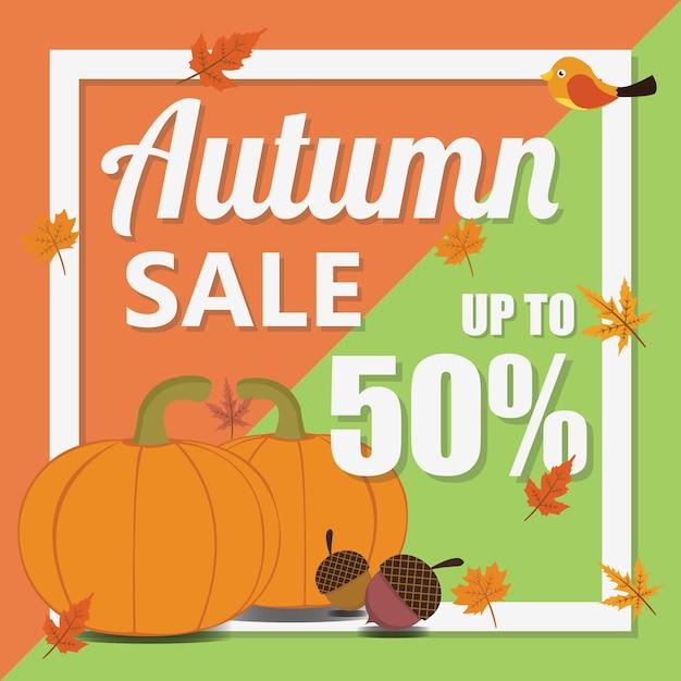 Modello di vendita autunno Vettore Premium
