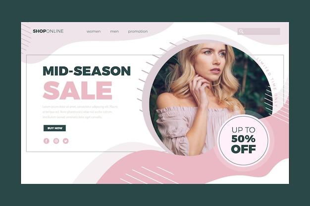 Modello di vendita di moda Vettore gratuito