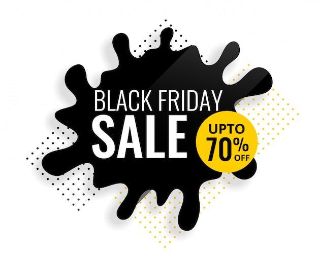 Modello di vendita di spruzzi di colore venerdì nero Vettore gratuito