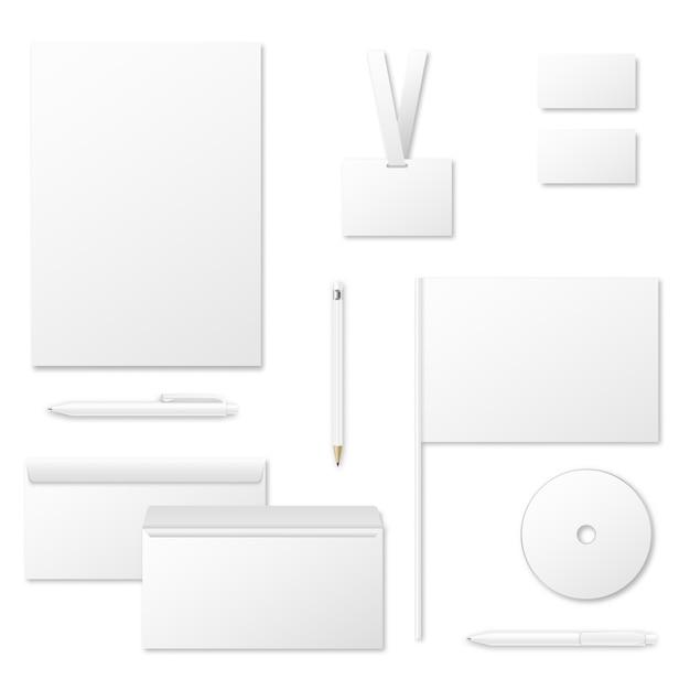 Modello di vettore di materiali di stampa per l'identità aziendale Vettore Premium