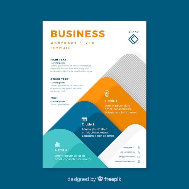 Modello di volantino di business moderno con design piatto Vettore gratuito