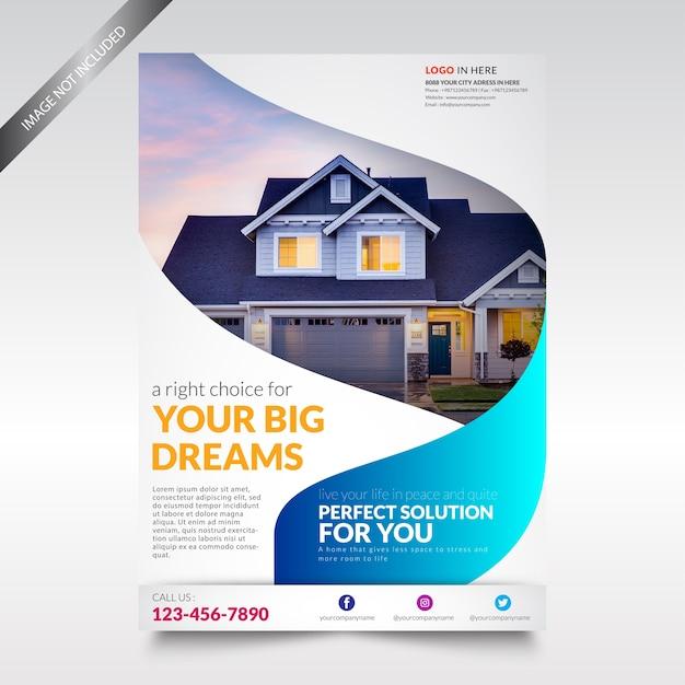 Modello di volantino immobiliare Vettore Premium