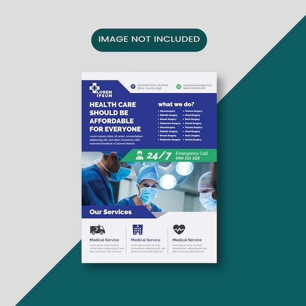 Modello di volantino medico Vettore Premium