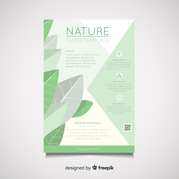 Modello di volantino natura Vettore gratuito