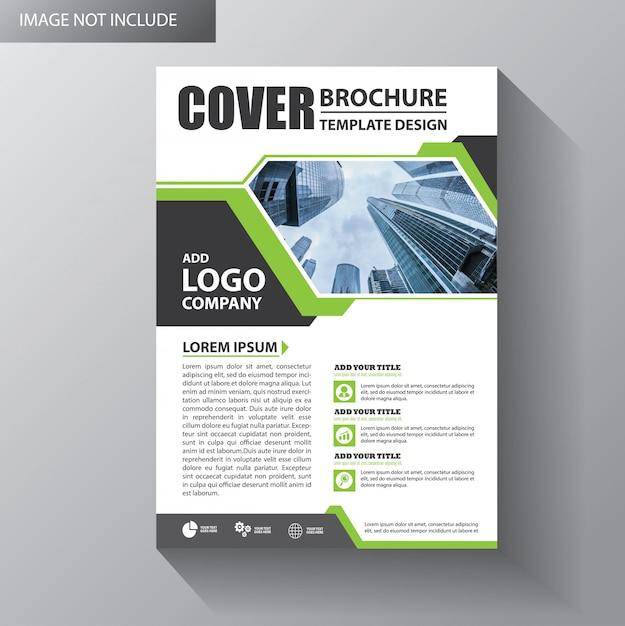 Modello di volantino per brochure di copertina Vettore Premium