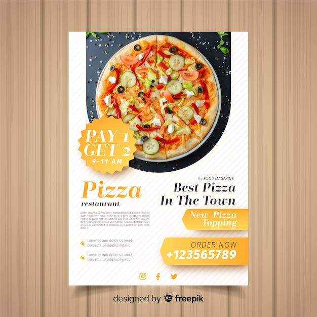 Modello di volantino pizza Vettore gratuito