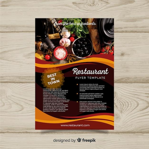Modello di volantino ristorante gourmet moderno Vettore gratuito
