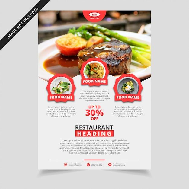 Modello di volantino ristorante moderno Vettore Premium