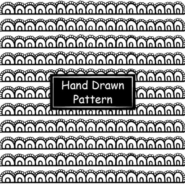 Modello disegnato a mano in bianco e nero Vettore gratuito