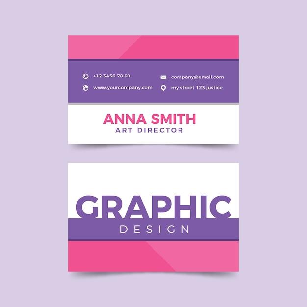 Modello divertente per biglietto da visita graphic designer Vettore gratuito