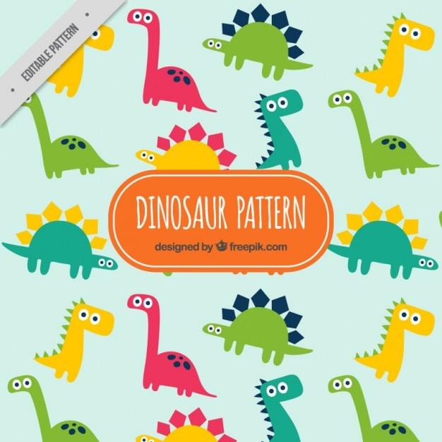 Modello divertenti dinosauri Vettore gratuito