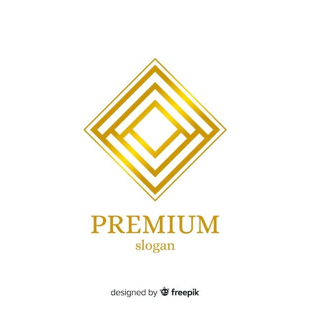 Modello dorato elegante logo aziendale Vettore gratuito