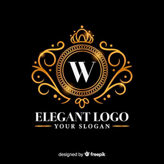 Modello dorato elegante logo Vettore gratuito