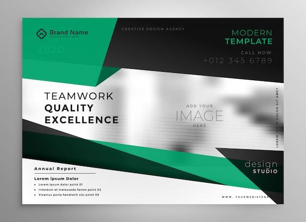 Modello elegante brochure aziendale in stile geometrico Vettore gratuito