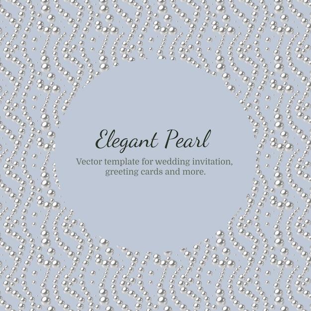Modello elegante con motivo a perle. Vettore Premium