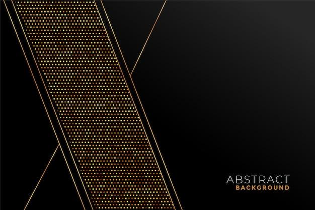 Modello elegante nero e oro in forme geometriche Vettore gratuito