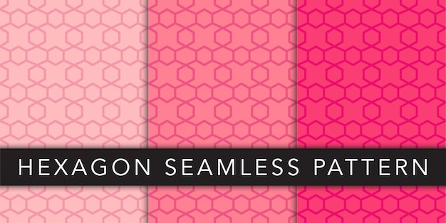 Modello esagonale geometrico senza cuciture Vettore Premium