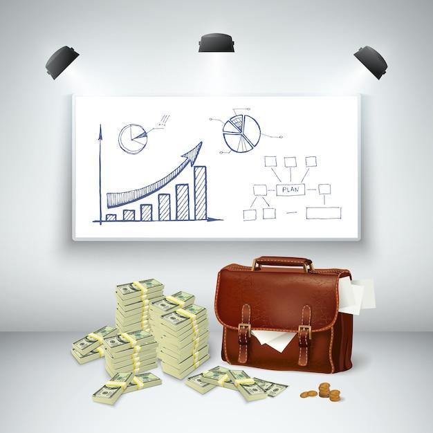 Modello finanziario di affari realistici Vettore gratuito
