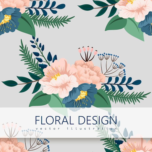 Modello floreale senza cuciture d'avanguardia dentro Vettore gratuito