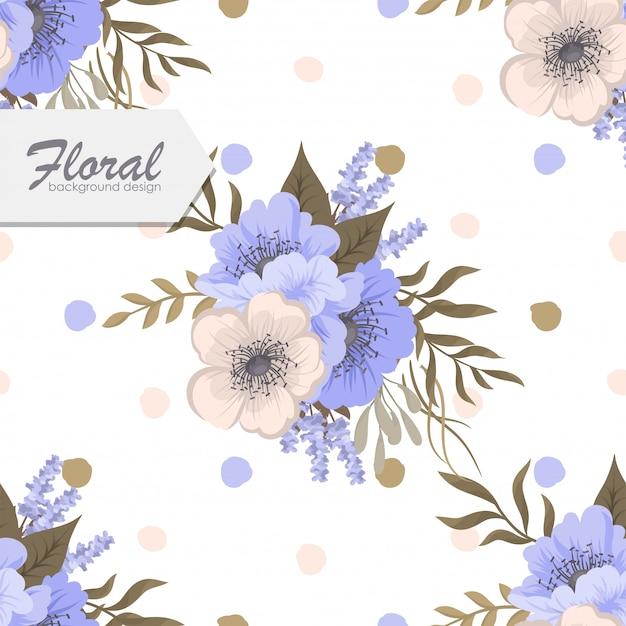 Modello floreale senza cuciture d'avanguardia nell'illustrazione di vettore Vettore gratuito