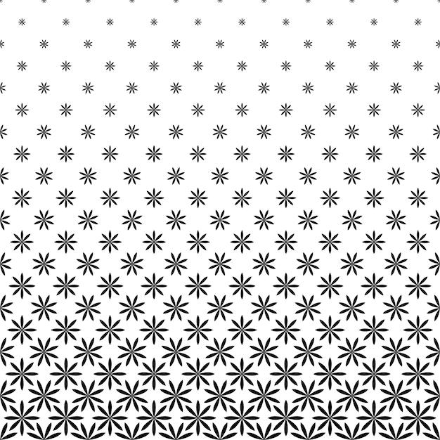 Modello Geometrico Floreale Monocromatico Stilizzato Disegno