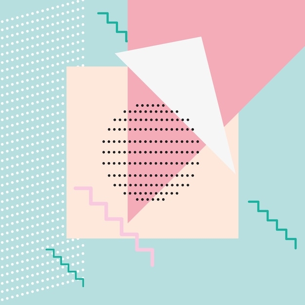 Modello geometrico senza cuciture in stile astratto moderno Vettore Premium