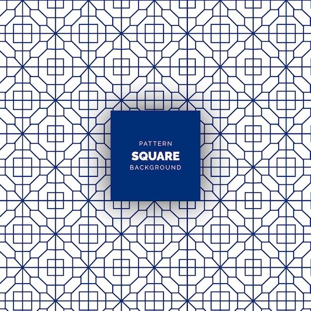 Modello geometrico senza cuciture quadrato astratto blu Vettore Premium