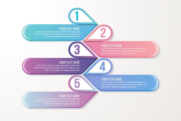Modello graduale infografica gradiente Vettore gratuito