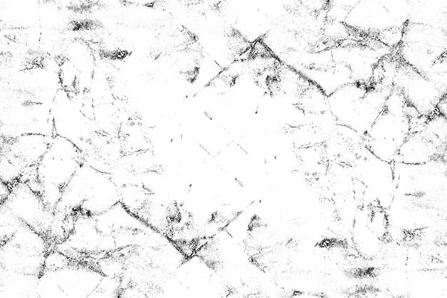 Modello in bianco e nero con crepe, graffi, scheggiature, macchie, macchie di inchiostro. Vettore Premium