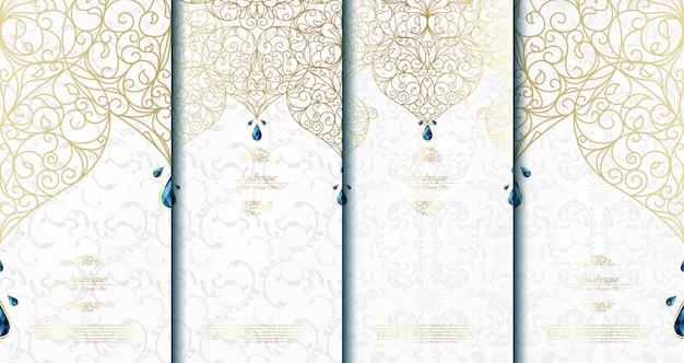 Modello islamico astratto arabesco Vettore Premium