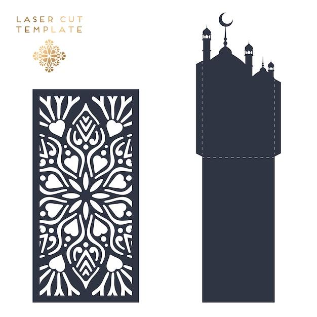 Modello islamico tagliato al laser Vettore gratuito