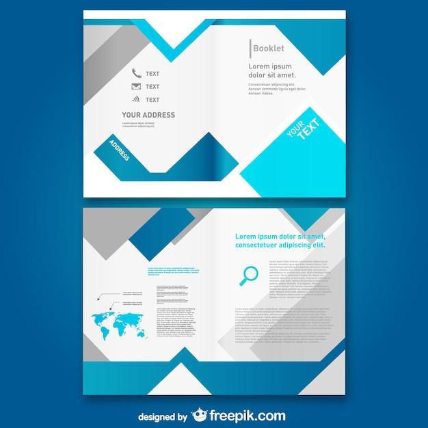 Modello libero mock-up brochure Vettore gratuito