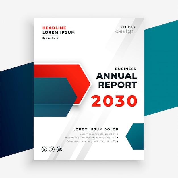 Modello moderno del rapporto annuale professionale di affari Vettore gratuito