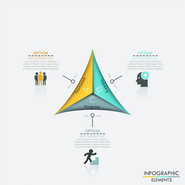Modello moderno di affari della freccia. Vettore Premium
