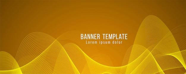 Modello moderno di banner luminoso elegante astratto Vettore gratuito