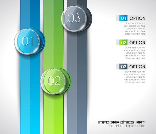 Modello moderno di infographic astratto per visualizzare i dati Vettore Premium